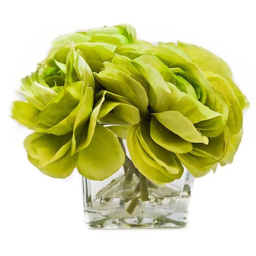 Green Mini Faux Flowers