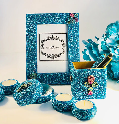 Turquoise Beaded Desk Set