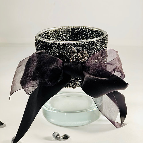 Black Ribbon Vase