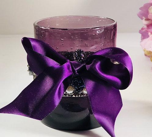 Purple Ribbon Vase