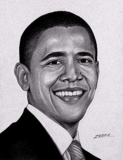 President Barack Obama 8 1/2 x11