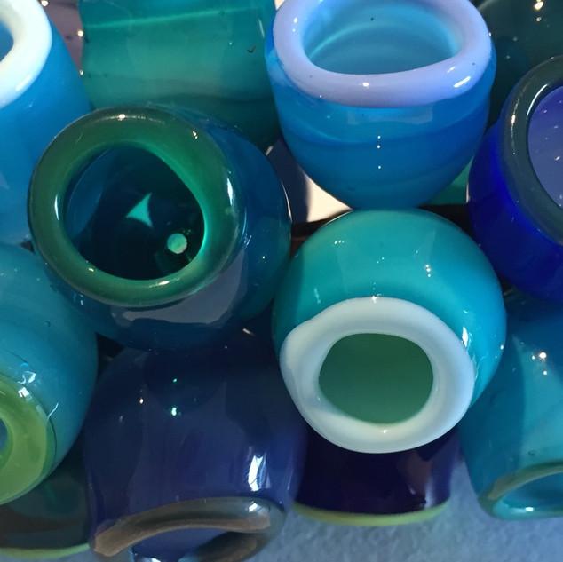 Elf Cups in Blue - detail