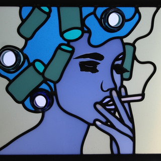 Woman With Curlers - 2013