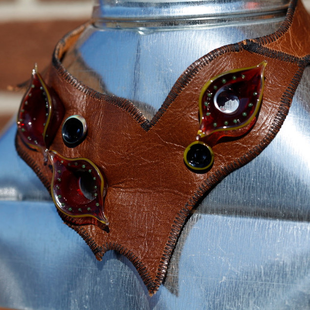 Leather Choker with Red Boro - 2010