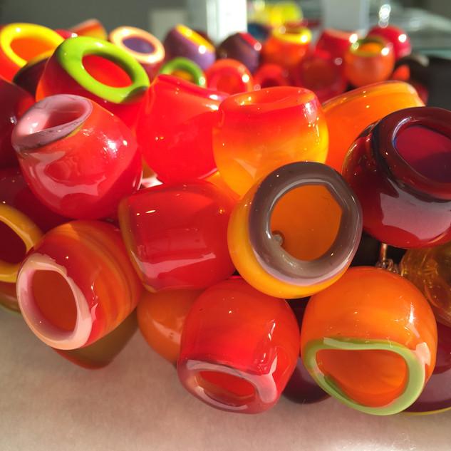 Crimson Elf Cups - detail