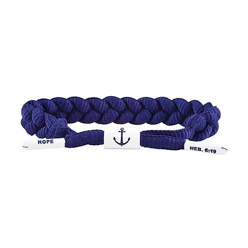 Shoelace Bracelet - Hope Navy