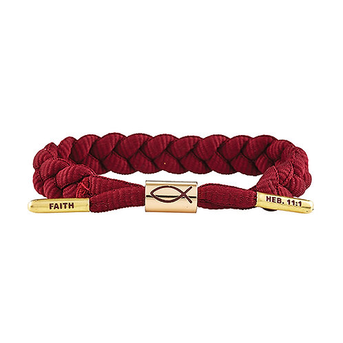 Shoelace Bracelet - Faith Merlot