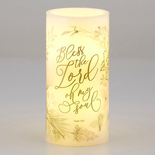 Shimmer - LED Candle - Medium - Bless The Lord