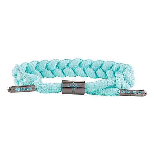 Shoelace Bracelet - Believe Aqua