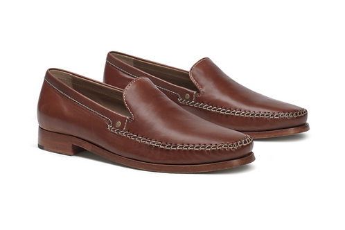 Trask Seth Loafer in Cognac Sheepskin 30-0606