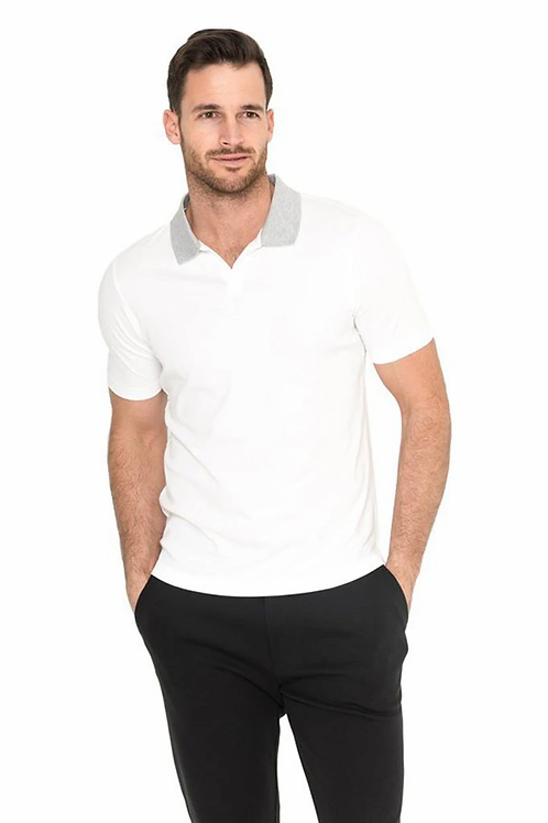 Raffi Maverick Polo in White - RW21776