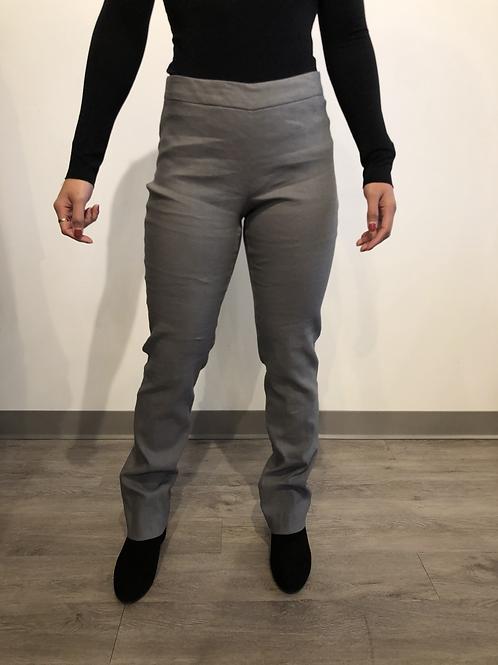 Sarah Pacini Grey Linen Pant 191472