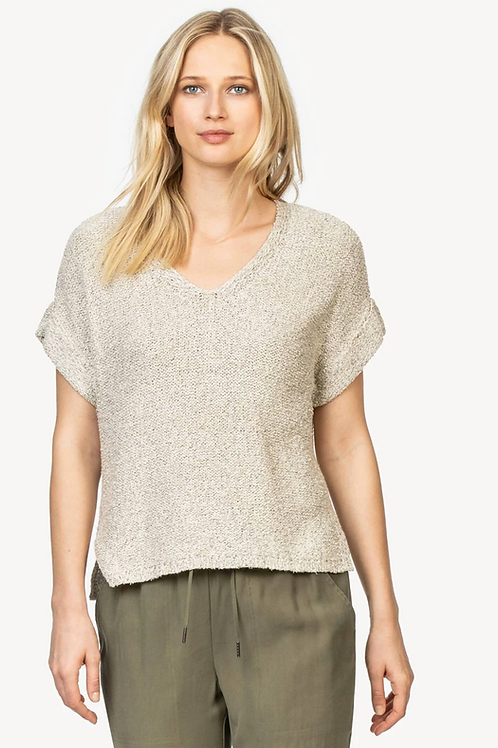 Lilla P PA1199-SAL Easy V-Neck Sweater