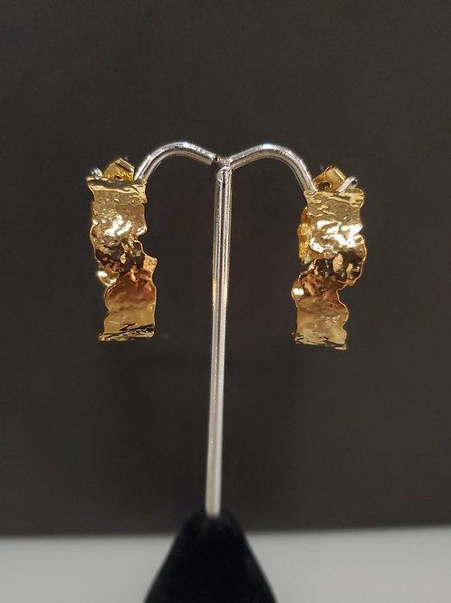 Heidi Hull Designs Gold Hammered wide hoop earrings