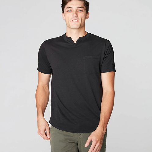 Goodman Victory V-Notch Tee in Black G344-2