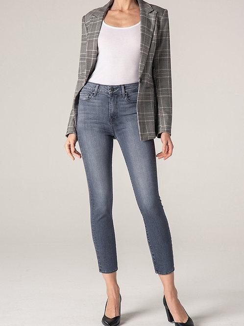 Fidelity Gwen Crop High Rise Skinny Grey