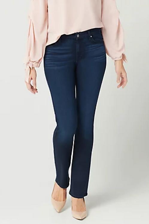 Jen7 Slim Straight Jean in Chantilly Blue GS0390913A