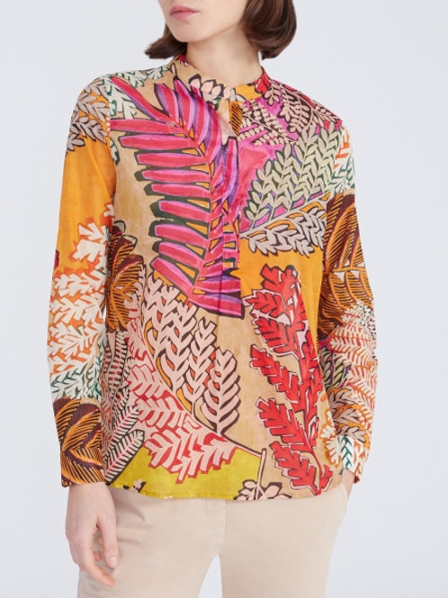 0039 Italy Janice Blouse in Bold Floral - 212137