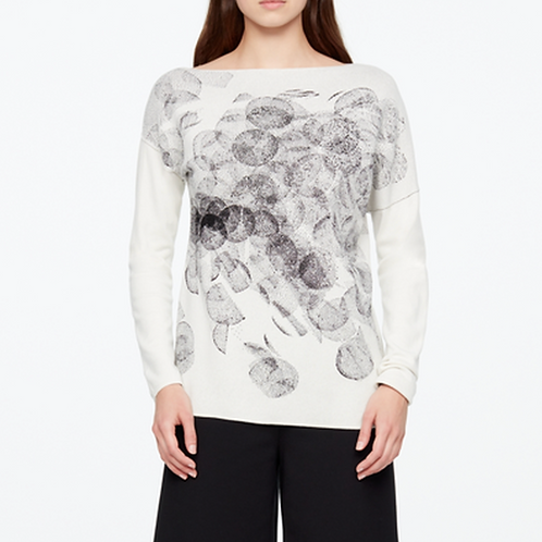 Sarah Pacini Asymmetrical Jacquard Sweater 11031