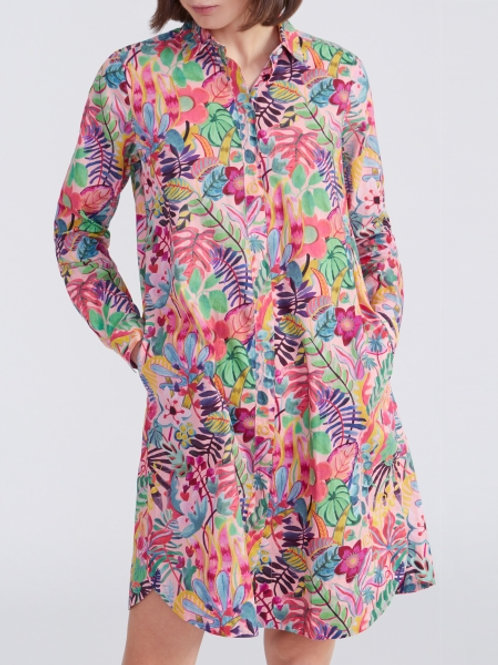 0039 Italy Gracia Dress in Tropical Floral - 212130