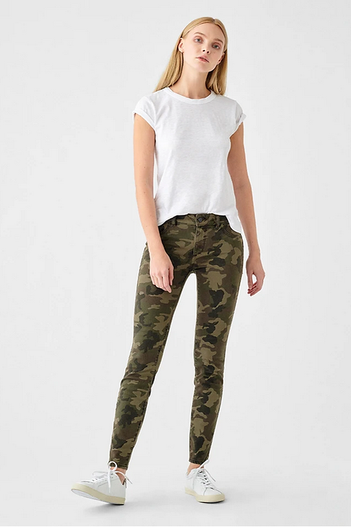 DL1961 Florence Mid Rise Skinny in Marsh 12786