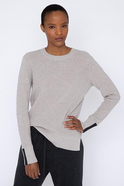 Kinross Cashmere Thermal Sweatshirt in Doe - LFSD1-103