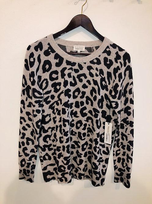 White + Warren Essential Leopard Print Crewneck 15512L