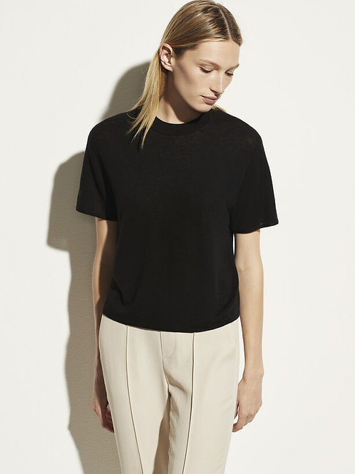 Vince Wool & Cashmere Easy Tee in Black - V732078707