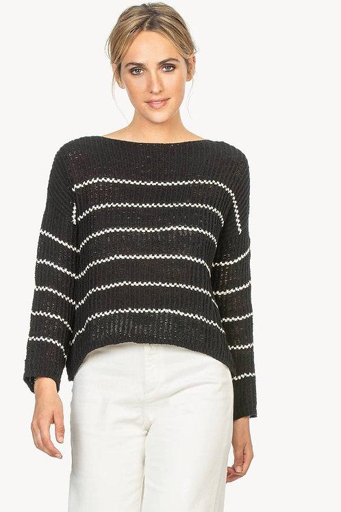 Lilla P Striped Boatneck Sweater