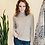 Thumbnail: Kinross Cashmere Plaited Mock Neck in Sand LFSC0-259