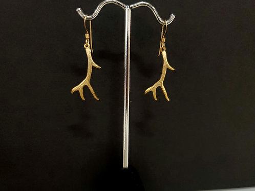 Heidi Hull Designs Gold-Tone Antler Dangle Earrings