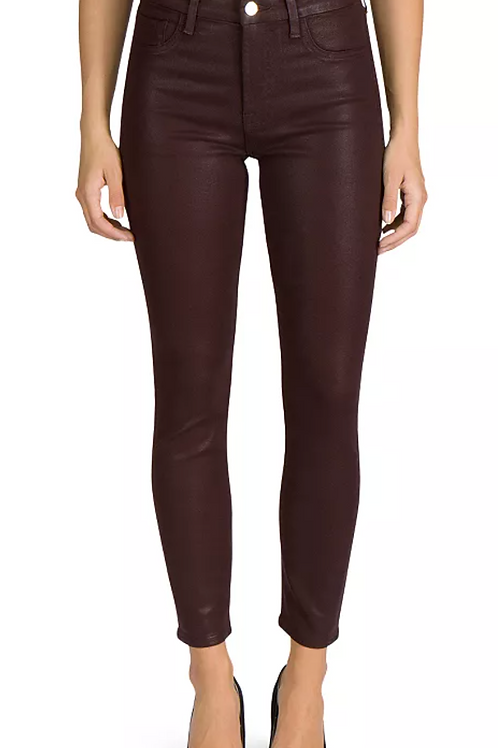 Jen7 Coated Ankle Skinny in Chocolate Brown gs0756912