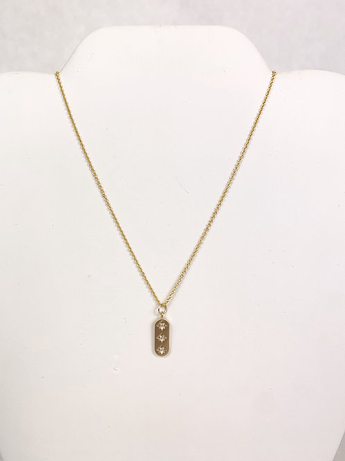 Gold Necklace with Gems