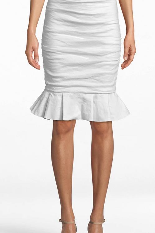 Nicole Miller Cotton Ruffle Skirt BF20125
