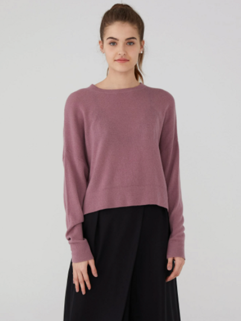 Revive Cashmere Oversized Crop Sweater RC1801