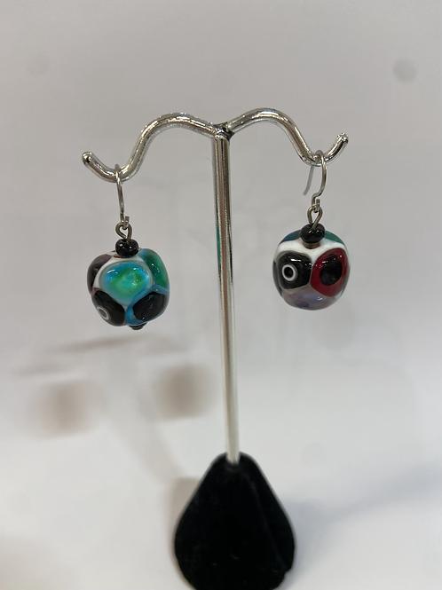 Multi-Colored Murano Glass Earrings