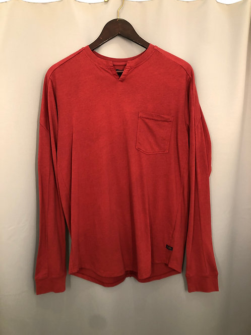 Goodman Victory V-Notch Tee in Red G344-2
