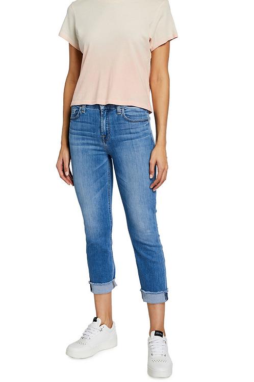 Jen7 Laquinta Mid-Rise Cuffed Skinny Jeans GS8750005Q
