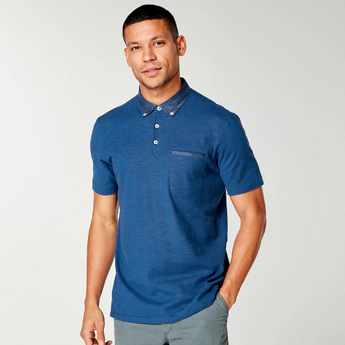 Good Man Soft Slub Jersey Polo - Blue Magic G331-11