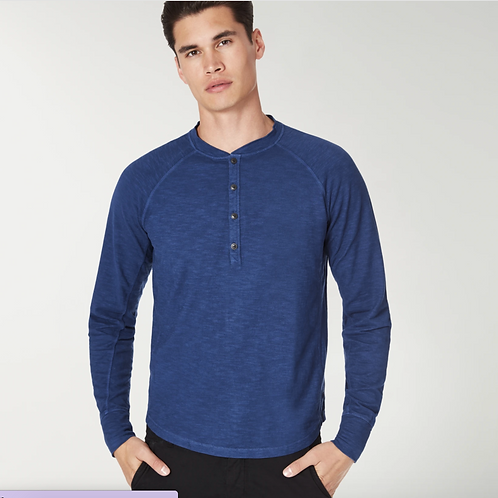 Goodman Henley Soft Slub Jersey in Blue G36-11