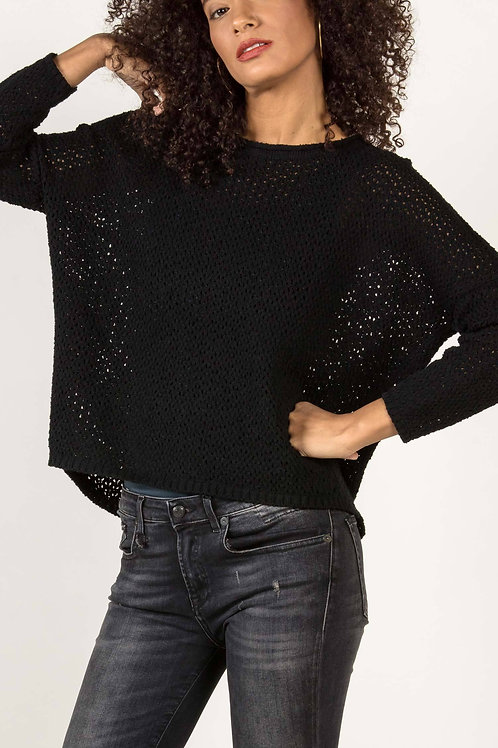 Mesh Pullover Sweater