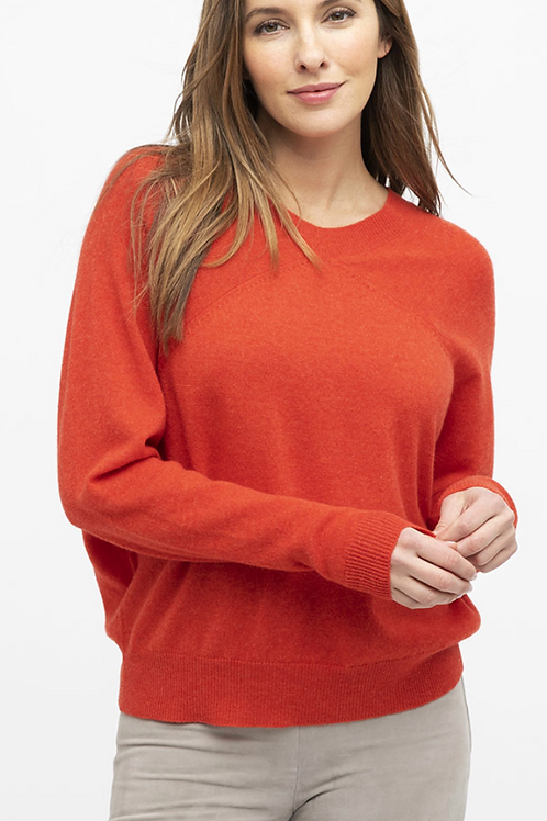 Kinross Cashmere Easy Dolman Pullover LFSC0-157