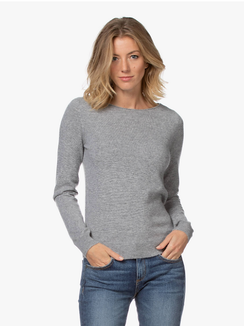 Repeat Cashmere Crewneck in Mud 100359