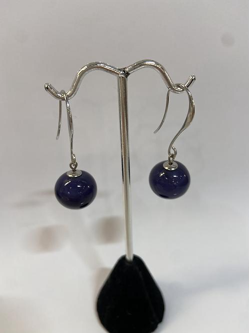 Dark Blue Murano Glass Earrings