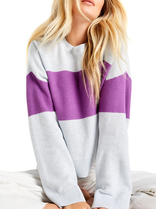 Lisa Todd Bold Move Sweater in Blue Ice