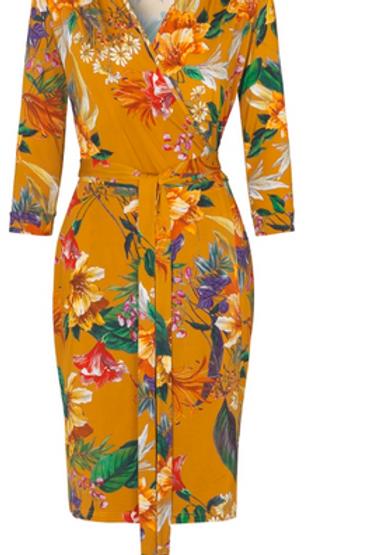 Ilse Jacobsen Burnt Orange Wrap Dress 7037