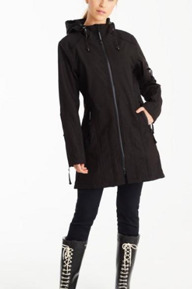 Ilse Jacobsen Black Fleece Lined Rain Jacket