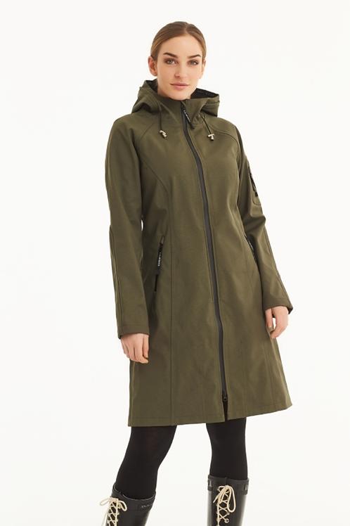 Ilse Jacobsen Long Raincoat in Army RAIN37