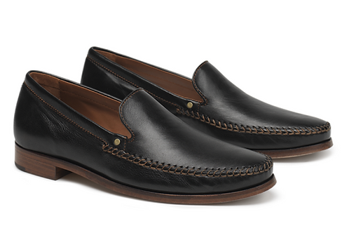 Trask Seth Loafers in Black Sheepskin