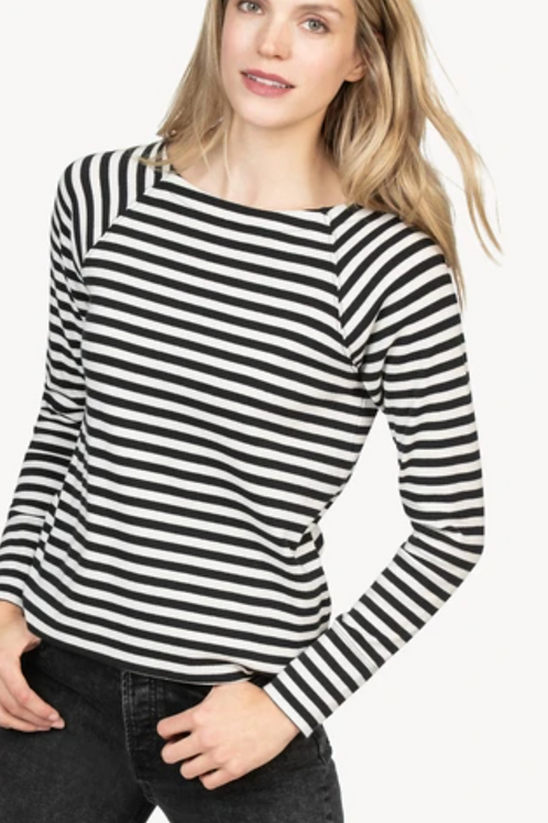 Lilla P Striped Raglan Boatneck PA1318